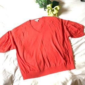 Sejour Short Sleeve V-Neck Sweater, 2X